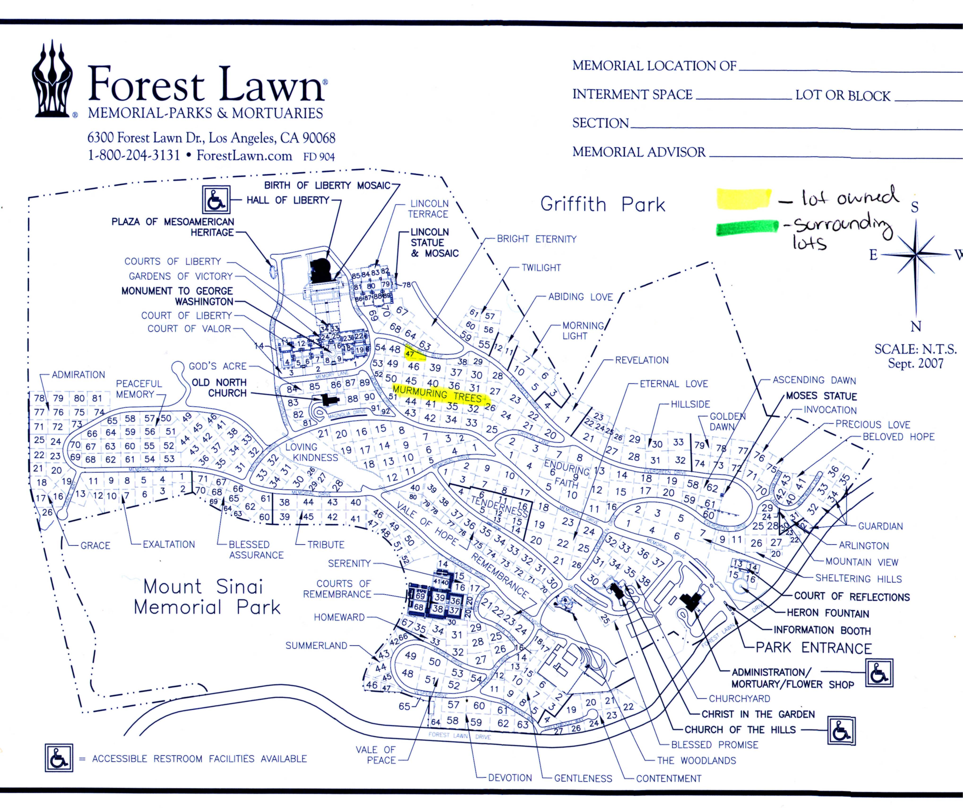 forest lawn hollywood hills plot map femous forest 2017